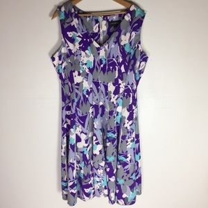 Lane Bryant Floral 16 Fit & Flare Sheath Dress